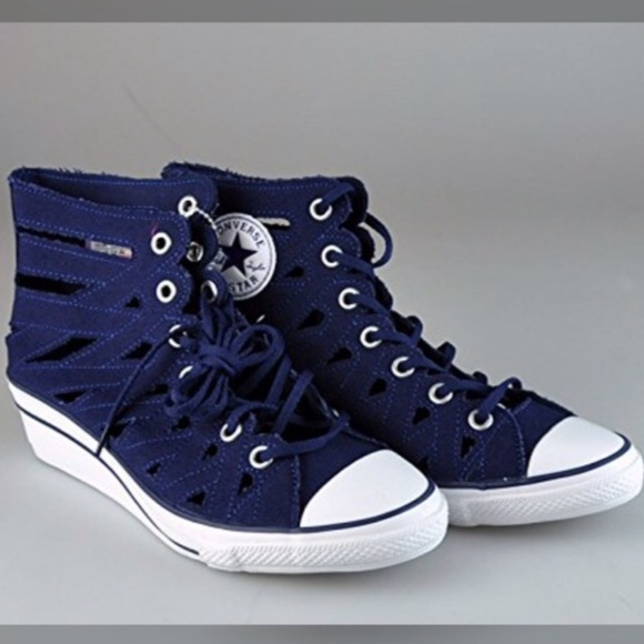 Converse Hiness Cut Out Wedge Shoe Size